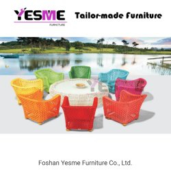 Colorful Sofa Outdoor Garden Home Kindergarten Furniture Rattan Rope Sofa