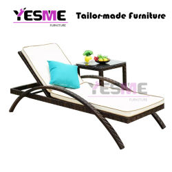 Modern Outdoor Garden Hotel Resort Rattan Furniture Beach Chair Sun Lounger Daybed Sunbed