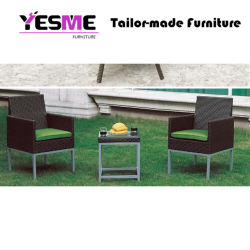 Modern Rattan Woven Dining Set Outdoor Furniture Garden Table Chairs