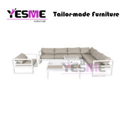 Modern Home Livingroom Resort Hotel Garden Beach Sofa Set Aluminum Sofa Set Outdoor Furniture
