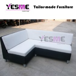 Modern Resting Area Hotel Rattan Sofa Set Garden Outdoor Leisure Furniture