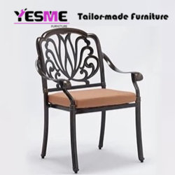 Cast Aluminium Dining Table and Chair Outdoor Garden Hotel Cast Aluminium Furniture