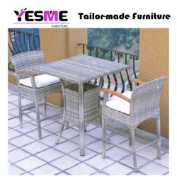 Yesme Rattan Outdoor Dining Table Chair Set
