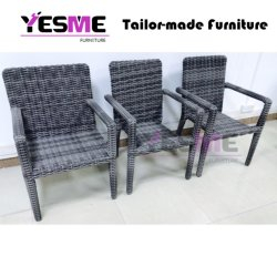 Garden Furniture Rattan Armchair Stackable Chair for Hotel Outdoor Furniture
