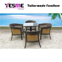 Yesme Rattan Outdoor Dining Chair Table Garden Furniture