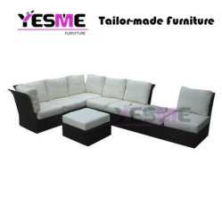 Modern Resting Area Garden Hotel Rattan Sofa Set Outdoor Leisure Furniture