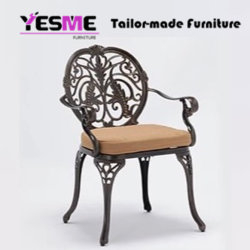 Cast Aluminium Dining Table and Chair Cast Aluminium Outdoor Garden Hotel Furniture
