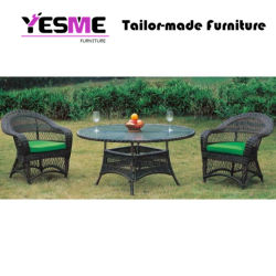 Outdoor Garden Furniture Dining Table Rattan Table and Chair Set