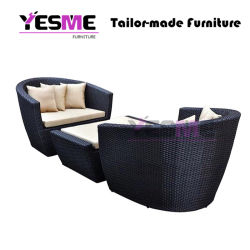 Modern Circular Arc Sofa Half Round Furniture Healthy PE Rattan Garden Furniture Sofa Set Garden Outdoor Furniture Sofa