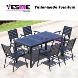 Modern Garden Waterproof Aluminum Dining Set Garden Outdoor Furniture