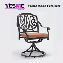 Cast Aluminium Dining Table and Chair Outdoor Garden Furniture