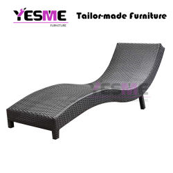 Hot Selling Outdoor Beach Furniture Wicker Lounge Rattan Lounge Outdoor Sunlounger