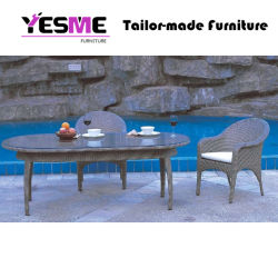 Garden Hotel Home Outdoor Rattan Furniture Table and Chair Wicker Dining Set