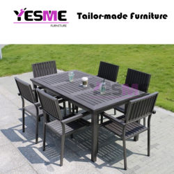 Outdoor Furniture Modern Garden Dining Home Livingroom Resort Hotel Leisure Aluminum Chair and Table