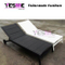 White/Black Outdoor Lounge Garden Sling Lounge Aluminum Sun Lounge Lounge Furniture