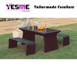 Outdoor Patio Garden Table Stools Dining Set Rattan Outdoor Furniture