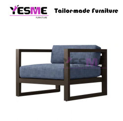Modern Leisure Furniture Comfortable Aluminum Sofa Chair